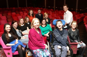 Group photo with Lyn Gardner (The Guardian)