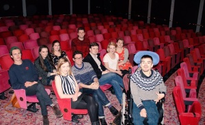 Participants with editor of The Stage newspaper, Alistair Smith & Jake Orr, Director of A Younger Theatre