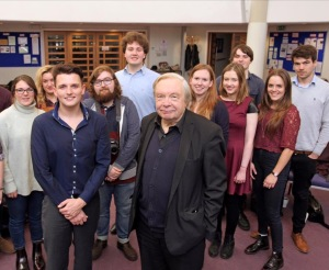 Michael Billington with Young Critics
