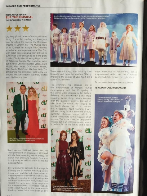 Review of Elf the musical by Carl Woodward